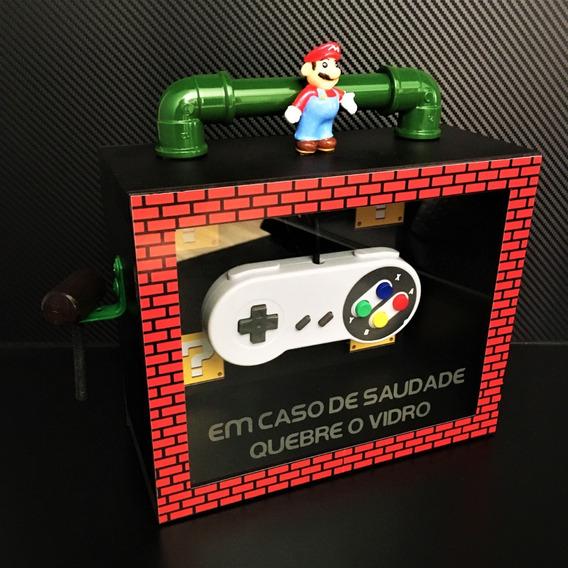 Display Decorativo Artesanal Super Mario Game Nintendo Geek