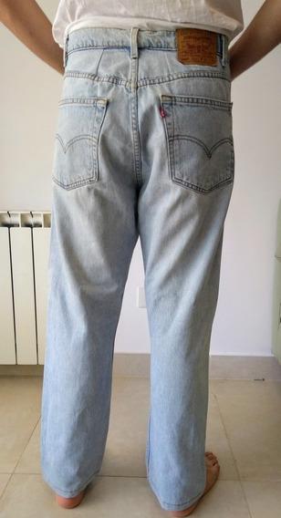 Jean Tiro Medio Levis Pantalón Recto Hombre Talle 28 Strauss