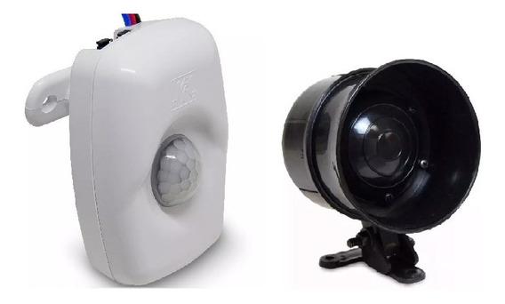 Kit Sensor E Sirene Bivolt 110/220 Volts Alta Potência 6tons
