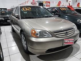 Honda Civic 1.7 Lx 16v Aut - Aceito Troca 2002