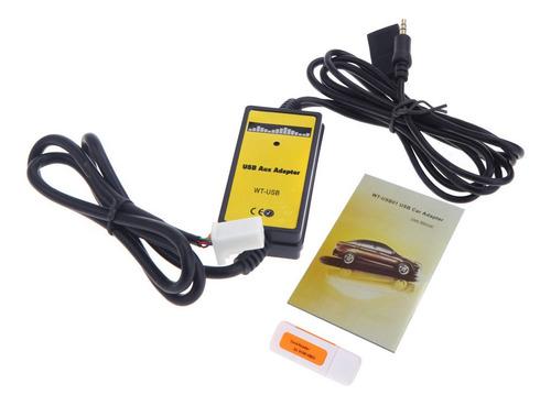 Imagen 1 de 5 de Auto Usb Adaptador Aux Mp3 Reproductor Radio Interface Para