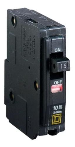 Imagen 1 de 7 de Pastilla Interruptor Termomagnético Qo115 1 Polo 15a 120/240
