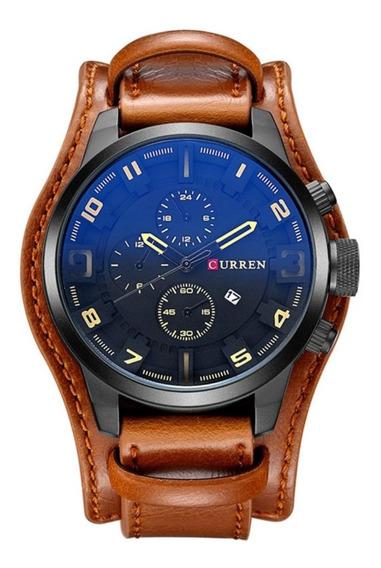 Relógio Masculino Curren 8225 Bracelete Couro