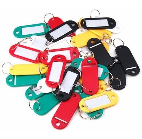 Llaveros Id Porta Etiquetas De Plástico 100 Colores Surtidos