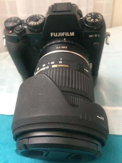 Camera Fujifilm X-t1 Com Grip E Adaptador Canon Para Fuji