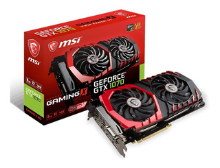 Tarjeta Adaptador Video Msi Gtx 1070 Pci-e Hdmi Dvi Dp 8gb