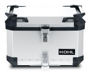 Top Case Aluminio Kohl 50lts + Base Universal Para Moto