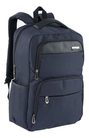 Mochila Comoda Ejecutiva Airpack Azul Laptop De Hasta 15.5