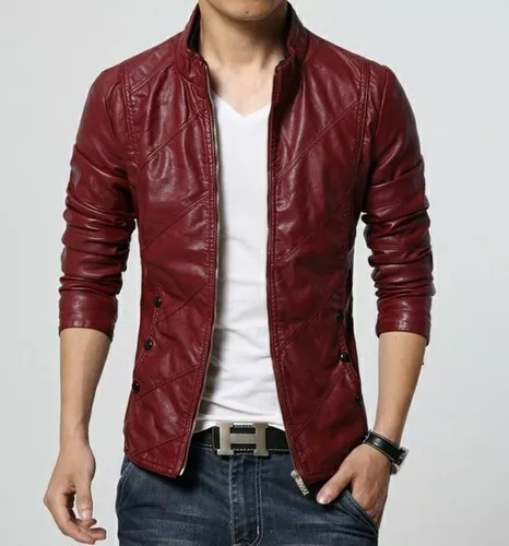 Jaqueta Masculina Slim Vermelha Tamnho L (tamanho Chinês)