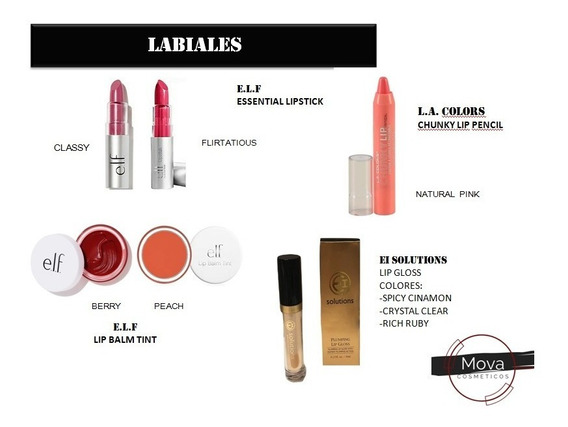 Maquillaje Cosmeticos Labial Revlon Loreal Maybelline Makeup