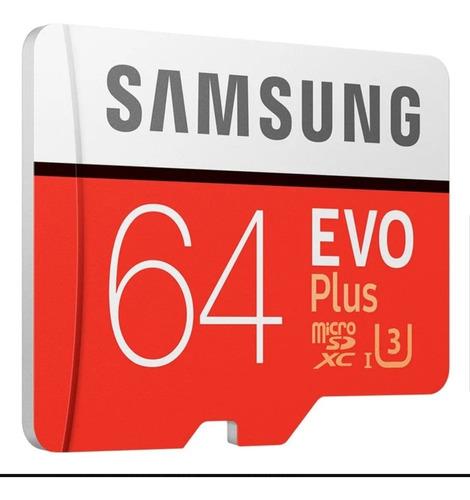 Cartão 64gb Samsung Com Adaptador Sd Original