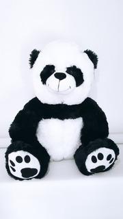 Oso Panda Peluche Grande Importado , Más Bolsa Con Moño