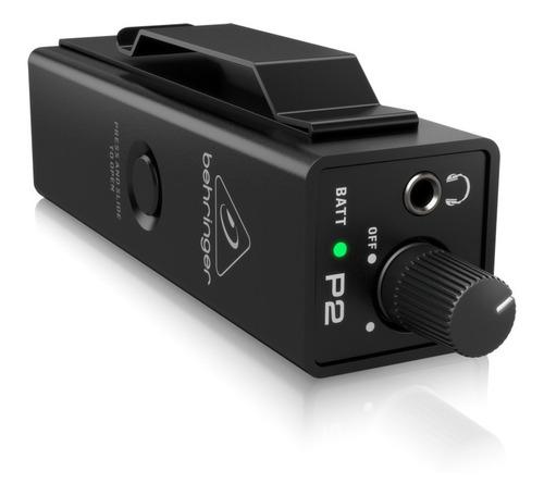 Amplificador Behringer P2 Monitor Auriculares Intraurales