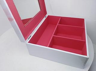 Make Up Caja De Maquillaje Con Divisiones Y Espejo