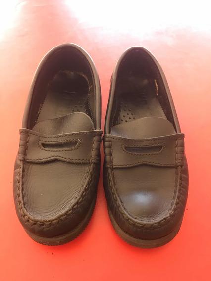 Zapatos Mocasines De Cuero Vacuno Para Niños Talle 31