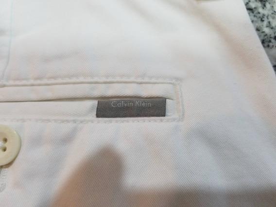 Pantalón Blanco Calvin Klein Hombre - Nuevo - Slim Fit T32