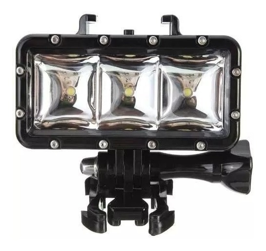 Iluminador Luz Led Gopro Mergulho Flash Sj4000 Prova Da Água