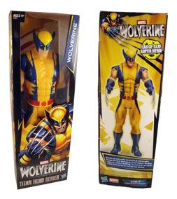 Boneco Wolverine X-men Logan 30cm - Marvel Titan Hero