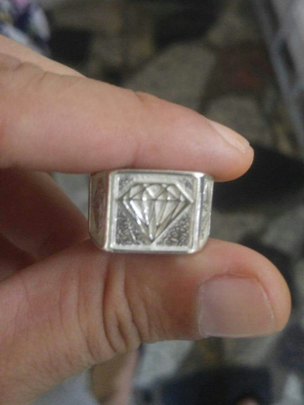 Anel De Prata Legitima 925 Dedeira Diamante Masculino Brinde