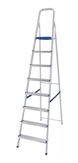 Escada Em Aluminio C/ 8 Degraus 005106 Mor