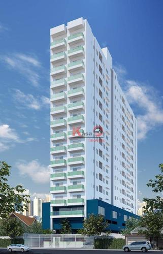 Apartamento Com 2 Dormitórios À Venda, 68 M² Por R$ 453.000,00 - Campo Grande - Santos/sp - Ap9805