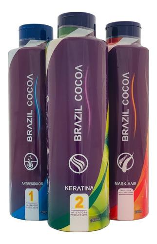 Imagen 1 de 3 de Keratina Brazil Cocoa 1000ml - mL a $350