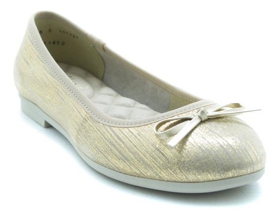 Flexi Dama Zapatos Balerina Casual 101701 Oro Originales