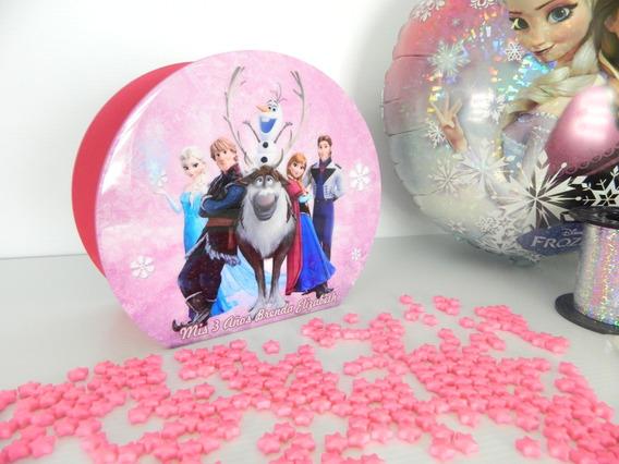 6 Bases Centro De Mesa Ch Frozen Rosa Personalizados