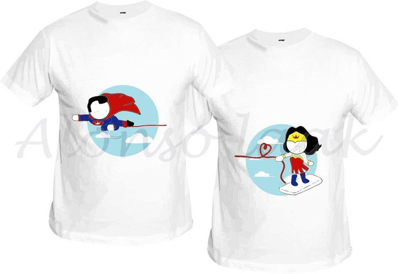 Playeras Para Parejas Playera Subliminada Playera Amor 2 Pz