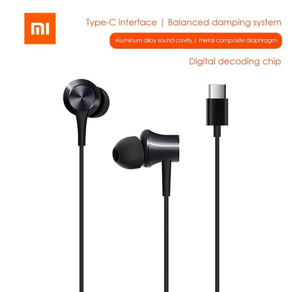 Xiao-mi Tipo-c Fone De Ouvido Com Fio Do Fone De Ouvido
