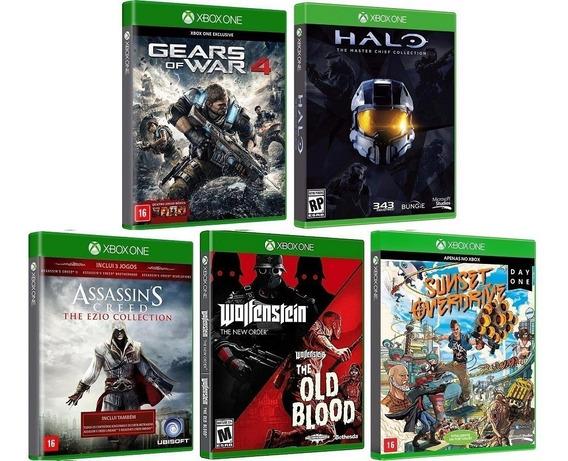 Kit 15 Jogos P/ Xbox One - Midia Fisica Original E Lacrado