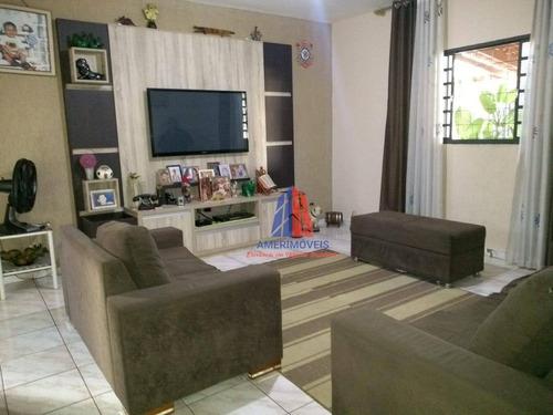 Casa Com 3 Dormitórios À Venda, 251 M² Por R$ 590.000 - Campo Limpo - Americana/sp - Ca1146