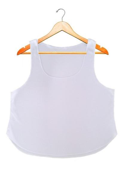 3 Crop Tops Blancos Para Sublimar Somos Fabricantes