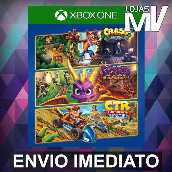 Pacote Triplo Crash + Spyro - Xbox One Código 25 Dígitos