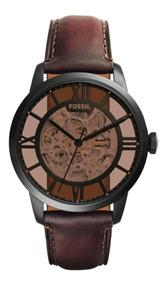Reloj Caballero Fossil Me3098 Color Café De Piel