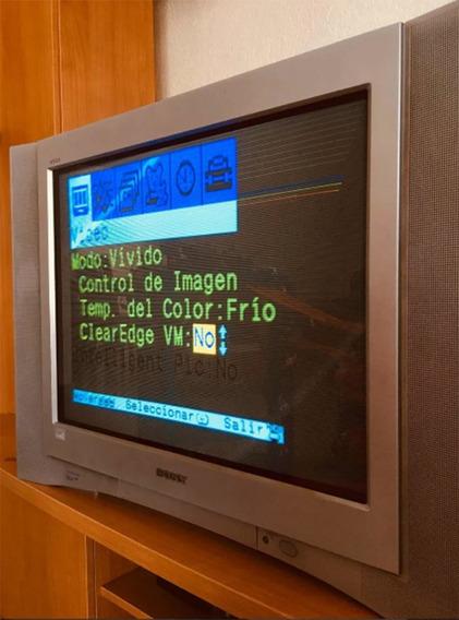 Televisión Sony Wega Trinitron 30 Pulgas Pa Refas