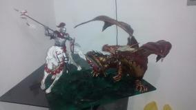 Escultura De São Jorge E O Dragão