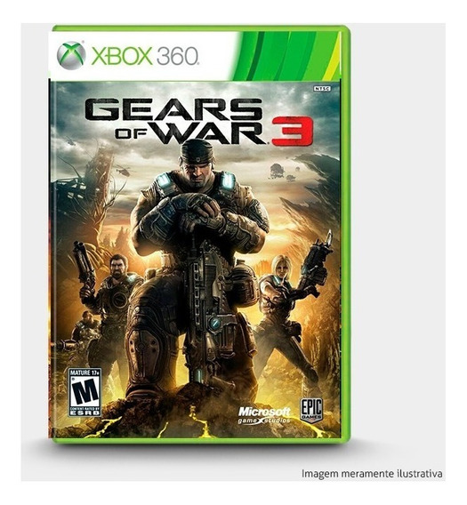 Gears Of War 3 - Original Para Xbox 360 Novo