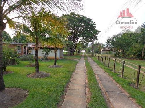 Chácara Com 4 Dormitórios À Venda, 11700 M² Por R$ 1.500.000 - Chácaras De Recreio Represa - Nova Odessa/sp - Ch0032