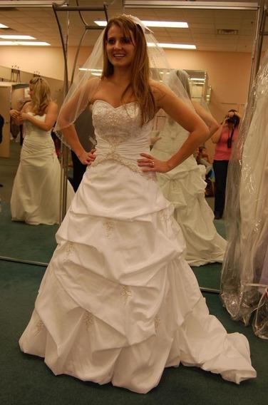 Vestido De Novia Blanco Economico Barato Davids Bridal