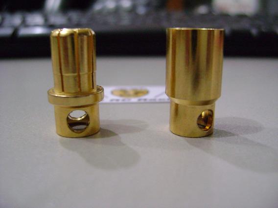 Conector Bullet 8mm, 170 / 200a, Profissional 02 Pares M/f