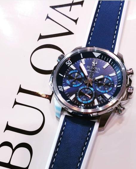 Reloj Bulova Marine Star Azul 96b287 Nuevo Original !!!