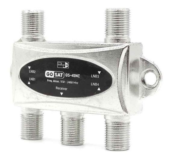 Novo Chave Diseqc 4x1 Para Receptor Hd Gosat Gs-41nc Dc500m