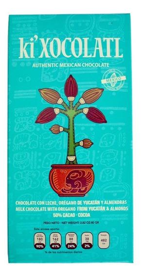 Ki Xocolatl Verde 50% Cacao Oregano, Natural, Orgánico
