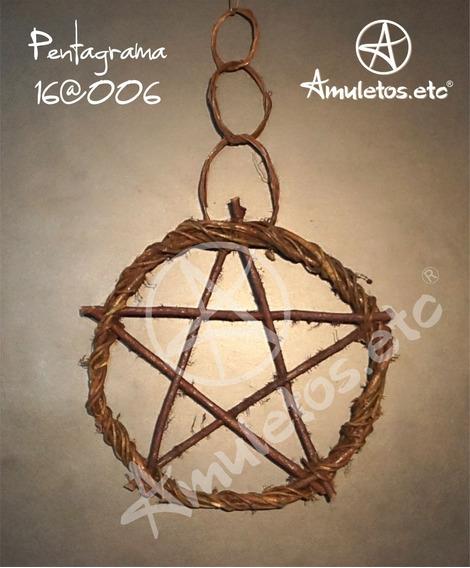 Pentagrama Em Cipó Wicca 16@006