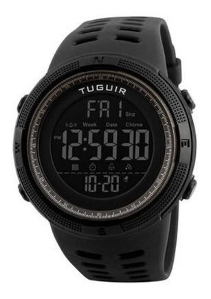 Relógio Masculino Tuguir Digital Tg1251 Preto E Marrom