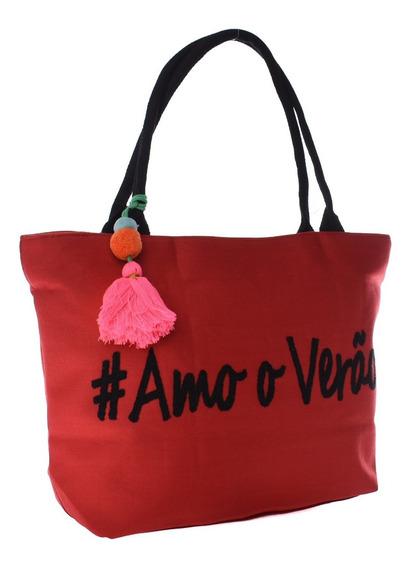Bolsa De Praia Cores Da Moda Brinde Chaveiro Promoção Barata