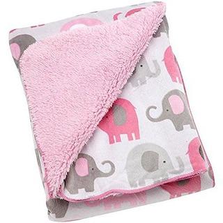 Manta De Elefante Suave Rosa Y Gris Baby Girl