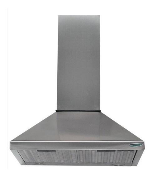 Campana Cocina 60 Piramide Acero Doble Turbina Luz Led
