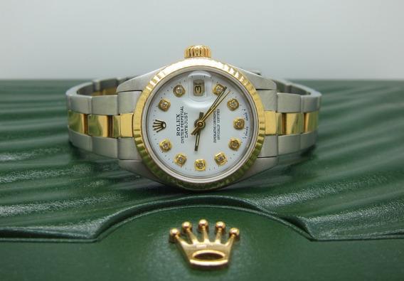Rolex Datejust Aço Bezel Ouro 26mm
